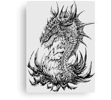 Regal Dragon - ink Canvas Print