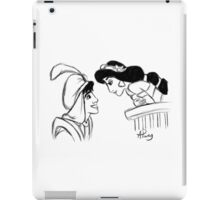 Aladdin and Jasmine Sketch iPad Case/Skin
