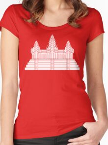 Angkor Wat Ver.2.0 Khmer Temple Women's Fitted Scoop T-Shirt