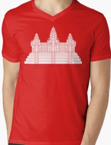 Angkor Wat Ver.2.0 Khmer Temple Mens V-Neck T-Shirt
