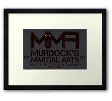 MMA - Murdock's Martial Arts (V03) Stealth Framed Print