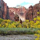 The Pulpit and the Altar in the Temple of Sinawava in Zion National Park. by Catherine Sherman