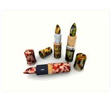Camouflage lipsticks Art Print