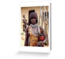 HAMAR GIRL - ETHIOPIA Greeting Card