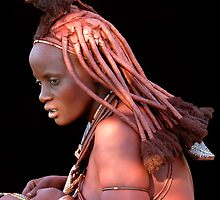 HIMBA GIRL - NAMIBIA by Michael Sheridan