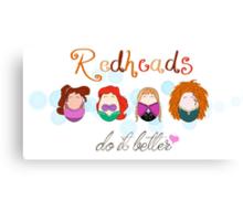 Red Head Disney Ladies Canvas Print