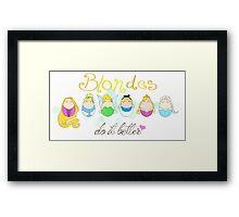 Blonde Disney Ladies Framed Print