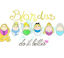 Blonde Disney Ladies by LaurasLovelies