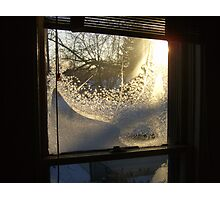 Sunrise Through Ice Crystals Photographic Print