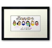 Brunette Disney Ladies Framed Print