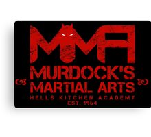 MMA - Murdock's Martial Arts (V04 - Bloodred) Canvas Print