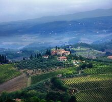 Tuscan countryside by Violaman