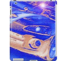 Blue-Neon-Nights-Car-Justin Beck-picture-2015106 iPad Case/Skin