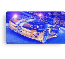 Blue-Neon-Nights-Car-Justin Beck-picture-2015106 Canvas Print