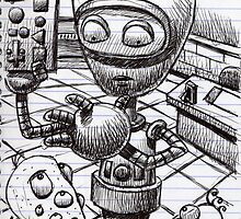 Robot teacher, teaching... by Mike Cressy