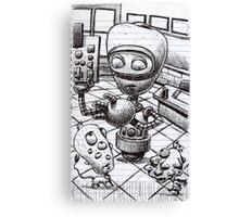 Robot teacher, teaching... Canvas Print