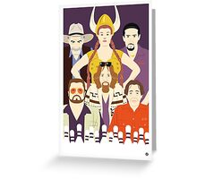 Around The Dude (Faces & Movies) Greeting Card