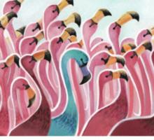 the Flamingo Sticker