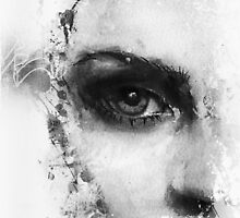 Kate Moss Series 1 - Eye Detail 2 - Black and White by kenoneilldotcom