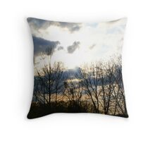 Storms Approaching Throw Pillow