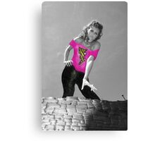 """""""Grease"""" Paper Doll Canvas Print"""