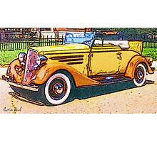 Old-Orange-Car-Justin Beck-picture-2015103 Photographic Print