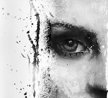 Kate Moss Series 1 - Eye Detail 1 - Black and White by kenoneilldotcom