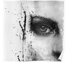 Kate Moss Series 1 - Eye Detail 1 - Black and White Poster