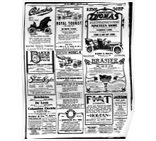 1906 The Sun newspaper page ads Poster
