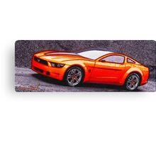 Orange-Car-Justin Beck-picture-2015108 Canvas Print