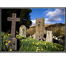 Daffodils at Troutbeck Church Photographic Print