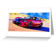 Race-Car-Justin Beck-picture-2015107 Greeting Card