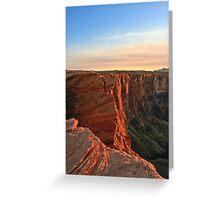 Sunset at Glen Canyon, Arizona Greeting Card