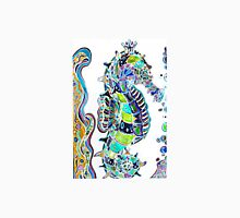 Seahorse water colours Womens Fitted T-Shirt