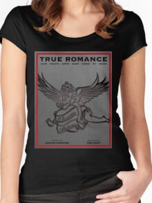 True Romance Vintage Movie Poster Women's Fitted Scoop T-Shirt