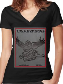 True Romance Vintage Movie Poster Women's Fitted V-Neck T-Shirt