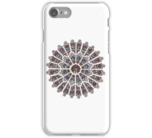 Stained Glass Rose Window iPhone Case/Skin