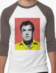 Top Gear Inspired Pop Art, Jeremy Clarkson Men's Baseball ¾ T-Shirt