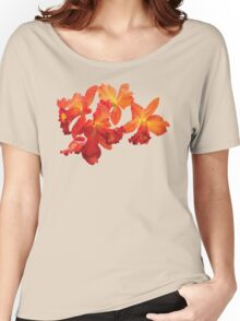 Orange Orchids Women's Relaxed Fit T-Shirt