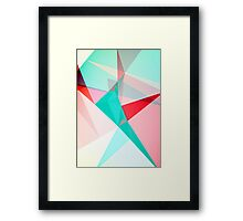 FRACTION - Abstract Graphic Iphone Case Framed Print