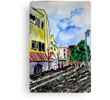 cityscape illustration childrens book scene Canvas Print