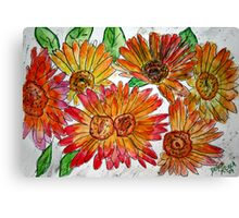 flowers illustration for childrens book Canvas Print