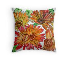 flowers illustration for childrens book Throw Pillow