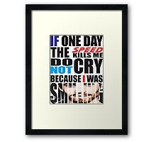 Paul Walker's Famous Quotes Framed Print