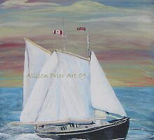 Norma and Glady's Schooner. by Allison  Prior