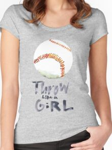 Throw Like a Girl Women's Fitted Scoop T-Shirt