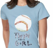 Throw Like a Girl Womens Fitted T-Shirt
