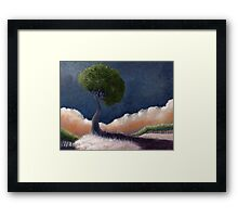 Tree Over the BIg Black Framed Print