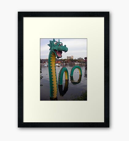 Look What Just Popped Out of the Lagoon! Framed Print