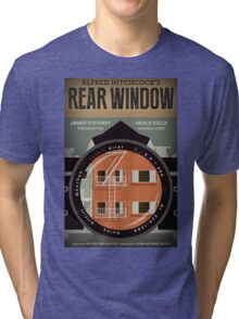 Rear Window alternative movie poster Tri-blend T-Shirt